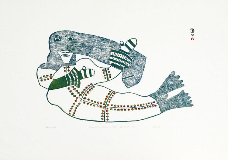 SEAMAIDEN - Northern Expressions | Pudlo Pudlat - Print | | Canadian Indigenous & Inuit Art
