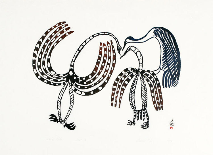 TALK OF BIRDS - Northern Expressions | Lucy Qinnuayuak - Print | | Canadian Indigenous & Inuit Art
