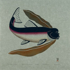 THE KELP COLLECTOR - Northern Expressions | Qavavau Manumie - Print | | Canadian Indigenous & Inuit Art
