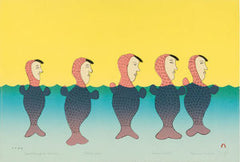 SYNCHRONIZED SEDNAS - Northern Expressions | Papiara Tukiki - Print | | Canadian Indigenous & Inuit Art