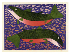 BOUNTIFUL SEA - Northern Expressions | Meelia Kelly - Print | | Canadian Indigenous & Inuit Art