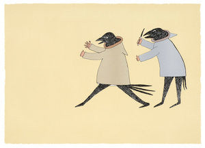 THE CHASE - Northern Expressions | Ohotaq Mikkigak - Print | | Canadian Indigenous & Inuit Art