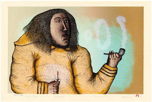 SMOKE RINGS - Northern Expressions | Pitaloosie Saila - Print | | Canadian Indigenous & Inuit Art