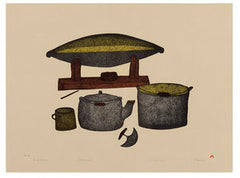 CAMP KITCHEN - Northern Expressions | Pitaloosie Saila - Print | | Canadian Indigenous & Inuit Art