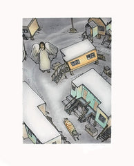 ANGEL IN TOWN - Northern Expressions | Shuvinai Ashoona - Print | | Canadian Indigenous & Inuit Art