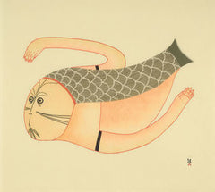 DIVING SEDNA - Northern Expressions | Ningeokuluk Teevee - Print | | Canadian Indigenous & Inuit Art
