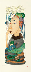 EXOTIC WOMAN - Northern Expressions | Shuvinai Ashoona - Print | | Canadian Indigenous & Inuit Art