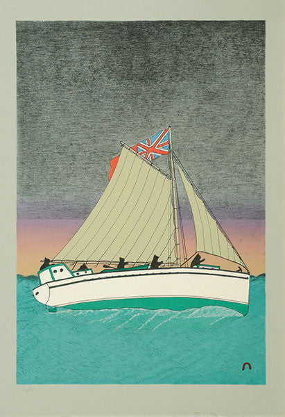Starboard Wind by Kananginak Pootoogook. Cape Dorset Inuit Print Collection