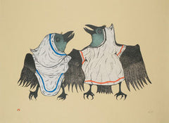 RAVENS' REEL - Northern Expressions | Pitaloosie Saila - Print | | Canadian Indigenous & Inuit Art