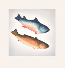 DIVING FISH - Northern Expressions | Pitaloosie Saila - Print | | Canadian Indigenous & Inuit Art