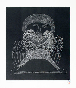 ALL-KNOWING SHAMAN - Northern Expressions | Ohotaq Mikkigak - Print | | Canadian Indigenous & Inuit Art