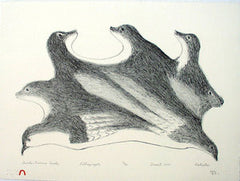 BIRDS BECOME SEALS - Northern Expressions | KAKULU SAGGIAKTOK - Print | | Canadian Indigenous & Inuit Art