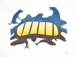 UMMAJIIT (ANIMALS OF ALL KINDS) - Northern Expressions | Kakulu Saggiaktok - Print | | Canadian Indigenous & Inuit Art