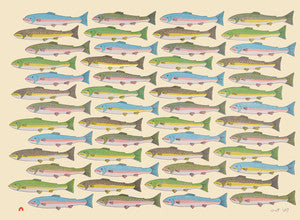 Counting Char - Northern Expressions | PAUOJOUNGIE SAGGIAK - Print | | Canadian Indigenous & Inuit Art