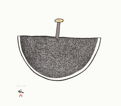 Magic Ulu by Ningeokuluk Teevee. Cape Dorset Inuit Print