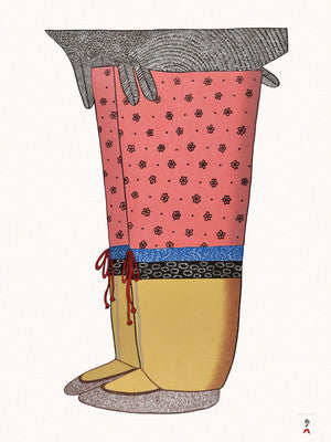 My New Boots by Ningeokuluk Teevee. 2016 Cape Dorset Inuit Print