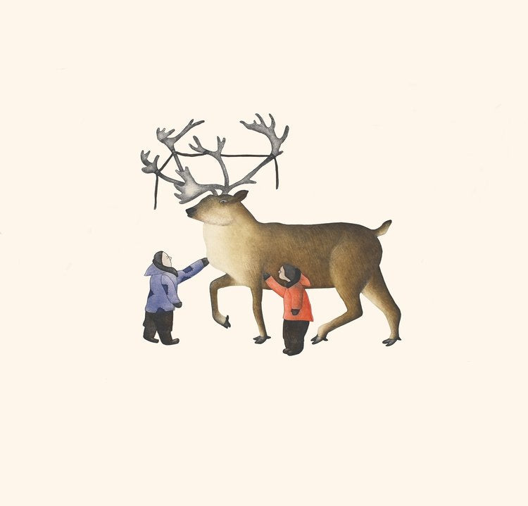 Caribou Rescue - Northern Expressions | Qavavau Manumie - Print | | Canadian Indigenous & Inuit Art