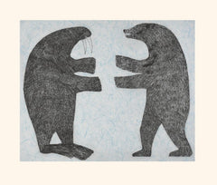 Confrontation - Northern Expressions | Nuna Parr - Print | | Canadian Indigenous & Inuit Art
