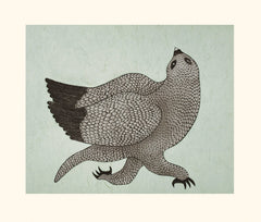 Running Owl - Northern Expressions | QUVIANAQTUK PUDLAT - Print | | Canadian Indigenous & Inuit Art