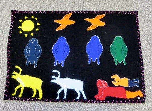 Inuit Handmade Wall Hanging - Northern Expressions | Janice Qiyuk - Gift | | Canadian Indigenous & Inuit Art