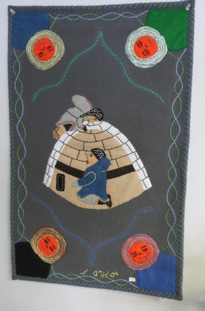 Handmade Inuit Wall Hanging - Northern Expressions | Lucy Angoyuaq - Gift | | Canadian Indigenous & Inuit Art