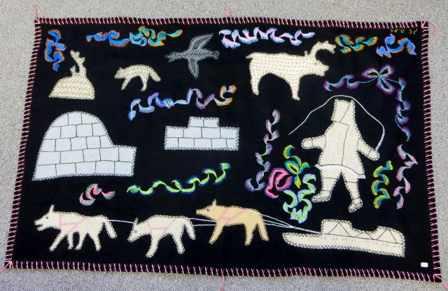 Inuit decorative wall hangings. Canadian Aboriginal art.
