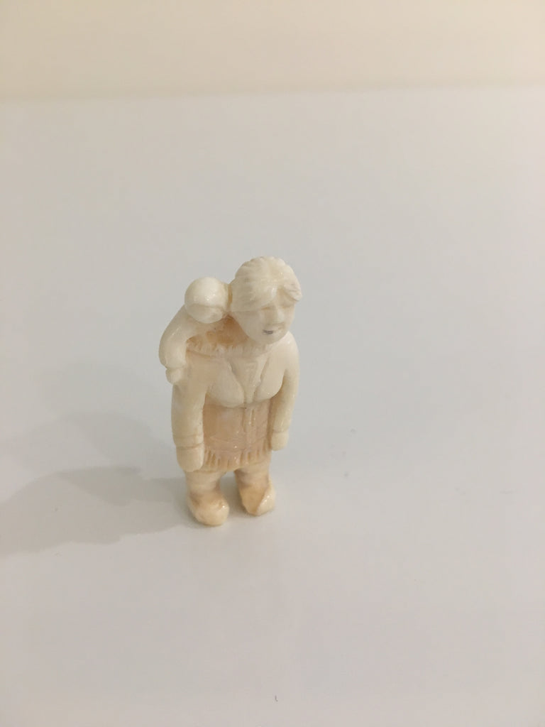 Inuit miniature carving, ivory