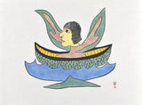 ALONE ON THE OCEAN - Northern Expressions | Soroseelutu Ashoona - Print | | Canadian Indigenous & Inuit Art