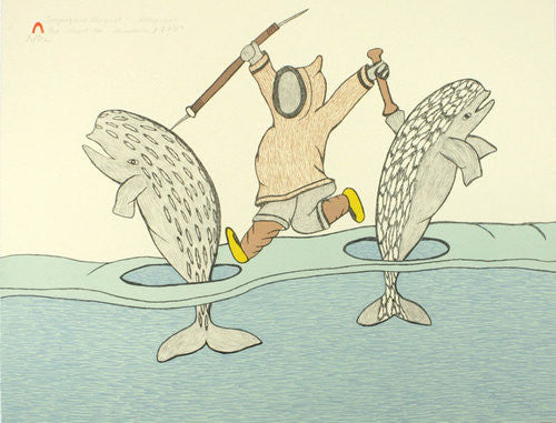 TUNGAAK AND ALUNGUAT - Northern Expressions | Soroseelutu Ashoona - Print | | Canadian Indigenous & Inuit Art