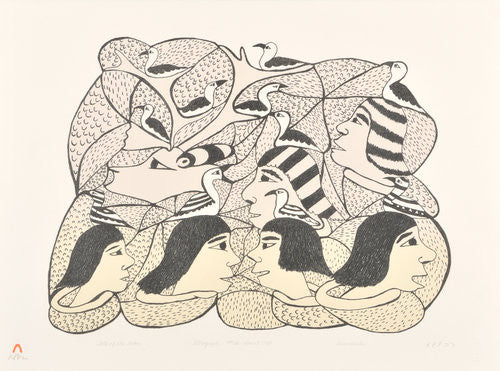 TALK OF THE OCEAN - Northern Expressions | Soroseelutu Ashoona - Print | | Canadian Indigenous & Inuit Art