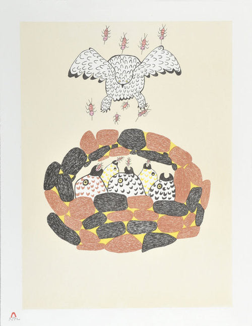 MOSQUITOES - Northern Expressions | Pitseolak Ashoona - Print | | Canadian Indigenous & Inuit Art