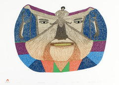 THE FACE - Northern Expressions | Oshoochiak Pudlat - Print | | Canadian Indigenous & Inuit Art