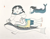 JOURNEY TO THE SEA - Northern Expressions | Eliyakota Samuellie - Print | | Canadian Indigenous & Inuit Art