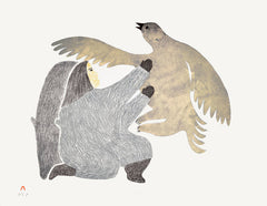 ILLUSIVE BIRD - Northern Expressions | Pitaloosie Saila - Print | | Canadian Indigenous & Inuit Art