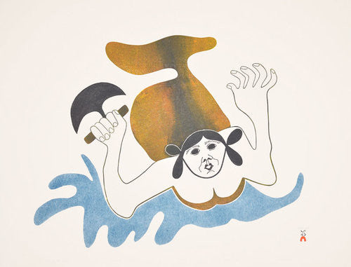 OUT OF THE SEA - Northern Expressions | Pitaloosie Saila - Print | | Canadian Indigenous & Inuit Art