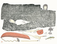ASLEEP IN THE HILLS - Northern Expressions | Kakulu Saggiaktok - Print | | Canadian Indigenous & Inuit Art