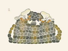 QIGGIRIAQ (BUILDING A FOX TRAP) - Northern Expressions | Mary Pudlat - Print | | Canadian Indigenous & Inuit Art