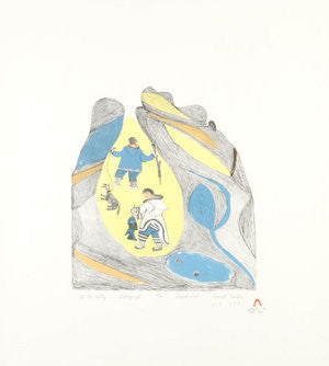 UP THE VALLEY - Northern Expressions | Tukikie Alamik - Print | | Canadian Indigenous & Inuit Art