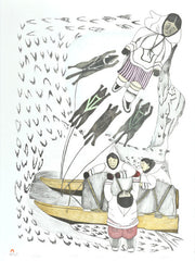 MAJUALAJUT - Northern Expressions | Napachie Pootoogook - Print | | Canadian Indigenous & Inuit Art