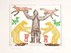 ADMIRED BENEFACTOR - Northern Expressions | Oshoochiak Pudlat - Print | | Canadian Indigenous & Inuit Art
