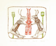 ARCTIC HERALDS - Northern Expressions | Oshoochiak Pudlat - Print | | Canadian Indigenous & Inuit Art