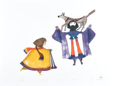 AJURITUIJIJUAK (HIGHEST PRIEST) - Northern Expressions | Pudlo Pudlat - Print | | Canadian Indigenous & Inuit Art