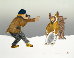 The First Tourist - Northern Expressions | Kananginak Pootoogook - Print | | Canadian Indigenous & Inuit Art