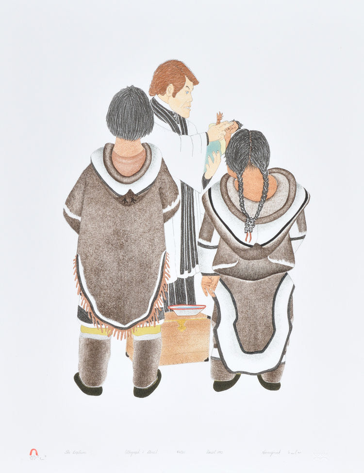 THE BAPTISM - Northern Expressions | Kananginak Pootoogook - Print | | Canadian Indigenous & Inuit Art