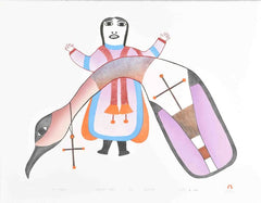 ARCTIC ALLEGORY - Northern Expressions | Pudlo Pudlat - Print | | Canadian Indigenous & Inuit Art