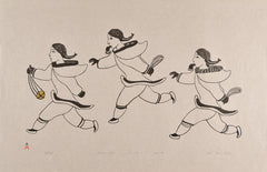 AJUTTAQTUT (TOSSING GAME) - Northern Expressions | Iyola Kingwatsiak - Print | | Canadian Indigenous & Inuit Art