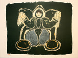 WOMAN SINGS OF ANIMALS - Northern Expressions | Mayoreak Ashoona - Print | | Canadian Indigenous & Inuit Art