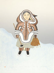 WOMAN GATHERING KELP - Northern Expressions | Mary Pudlat - Print | | Canadian Indigenous & Inuit Art