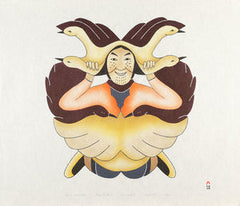 SHAMAN SURROUNDED - Northern Expressions | Mary Pudlat - Print | | Canadian Indigenous & Inuit Art