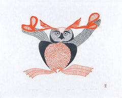UPPIRUQPALLIAJUK (TRANSFORMING TO AN OWL) - Northern Expressions | Mayoreak Ashoona - Print | | Canadian Indigenous & Inuit Art